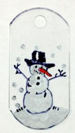 Snowman on shrink plastic