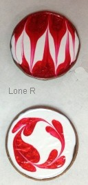 Handpainted lucky pennies by Lone R